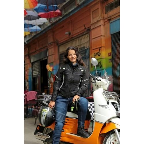Venom City Condura Kısa Kadın Motorsiklet Montu