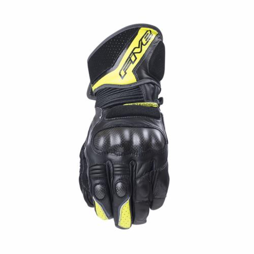 Five Gloves GT1 Su Geçirmez Siyah-Flu Sarı Motosiklet Eldiveni