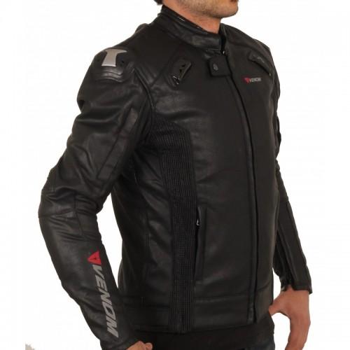Venom D2 Racing Siyah Motosiklet Ceketi
