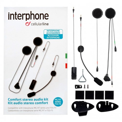 INTERPHONE MINI USB AUDIO KIT FOR HELMET F3-F4-F5  KULAKLIK SETİ