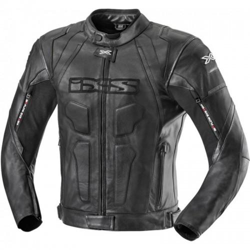 IXS Darren Racing Siyah Deri Motosiklet Ceketi