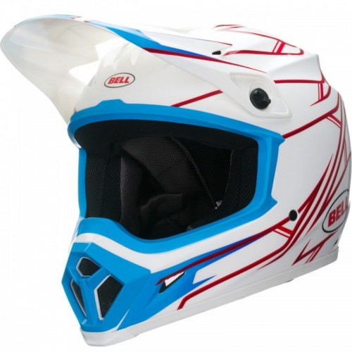 BELL MX-9 PINNED WHITE KAPALI KASK