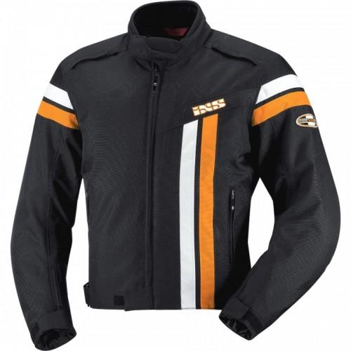 IXS Dutton Siyah-Turncu-Beyaz Motosiklet Ceketi