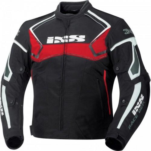 IXS Activo Siyah-Kırmızı-Beyaz Motosiklet Ceketi