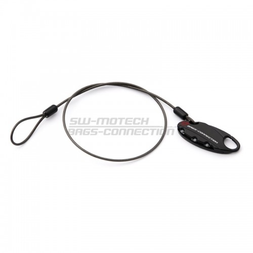 Motorbike Luggage Cable Lock. Black. With Combination Lock. Cable 50 Cm. BC.LOC.00.002.10000/B
