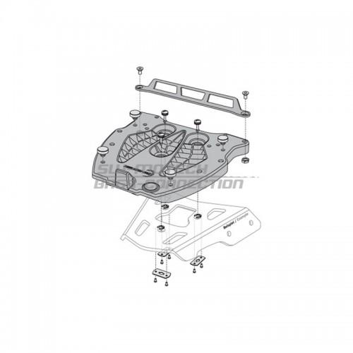 QUICK-LOCK Adapter Plate. GIVI/KAPPA Monolock.Fiber Reinforced Nylon. Black. GPT.00.152.406