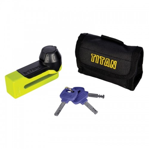 OXFORD TITAN YELLOW DISC-LOCK & POUCH - OF51