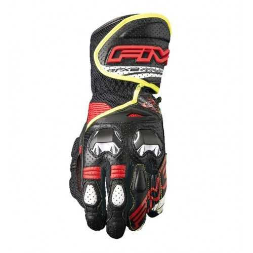 FIVE GLOVES RFX 2 AIRFLOW BLACK FLUE YELLOW MOTOSİKLET ELDİVENİ
