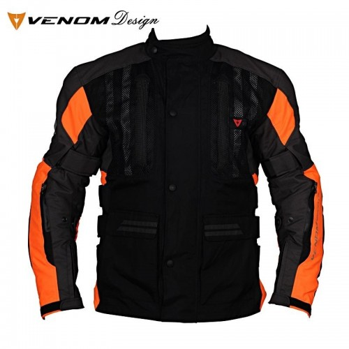 VENOM TOUREX TOURING BLACK/ORANGE LADY MOTOSİKLET MONTU