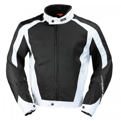 IXS AirMesh Evo 2 Siyah Beyaz Motosiklet Ceketi