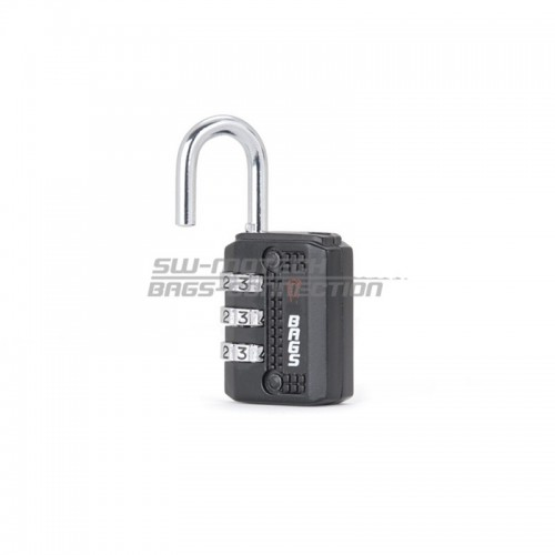 Motorbike Zipper Lock. Black. With Combination Lock. BC.LOC.00.001.10000/B