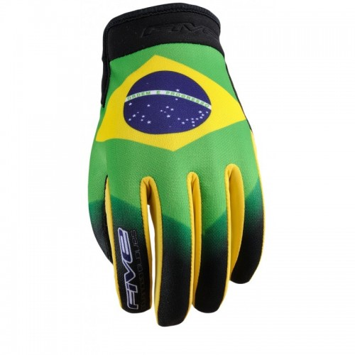 FIVE GLOVES PLANET PATRIOT BRAZIL MOTOSİKLET ELDİVENİ