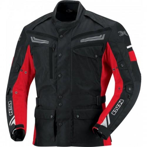 IXS Evans Siyah-Kırmızı Motosiklet Ceketi