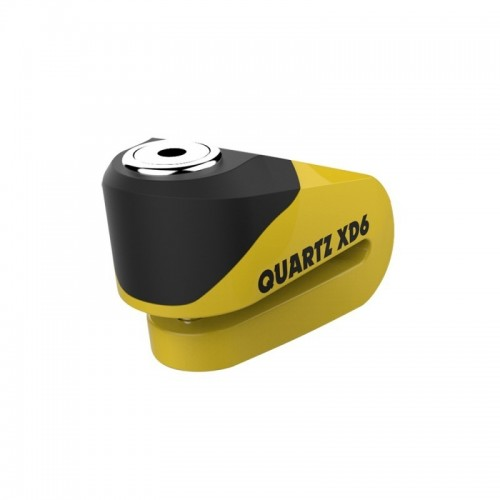 OXFORD LK265 QUARTZ XD6 DISK LOCK 6MM YELLOW BLACK