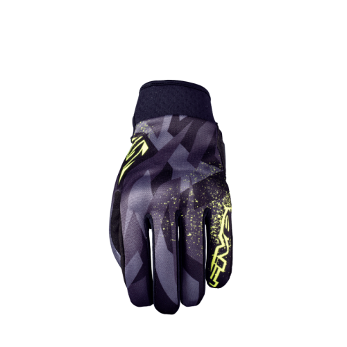 FIVE GLOVES GLOBE CAMO FLUO YELLOW MOTOSİKLET ELDİVENİ