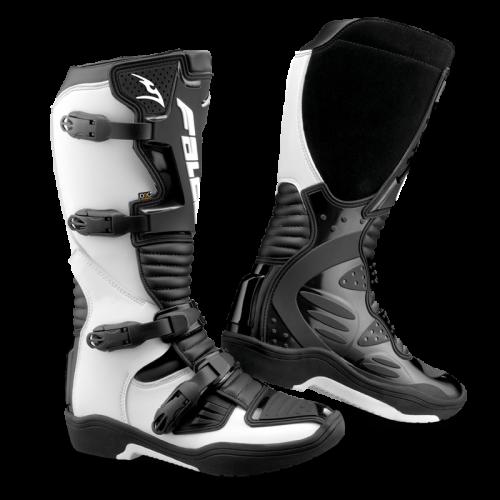 Falco Drake Beyaz/ Siyah Motosiklet Botu