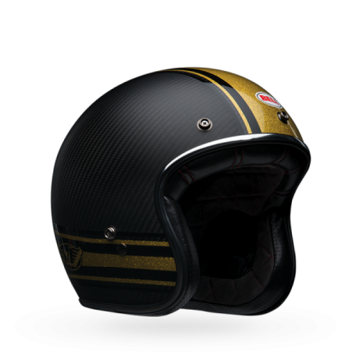 BELL CUSTOM 500 CARBON RSD BOMB BLACK/GOLD MATTE