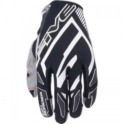 Five Gloves MXF Pro Rider Siyah-Beyaz Motosiklet Eldiveni