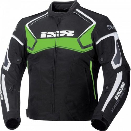 IXS Activo Siyah-Yeşil-Beyaz Motosiklet Ceketi