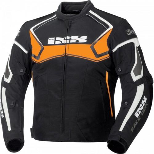 IXS Activo Siyah-Turuncu-Beyaz Motosiklet Ceketi