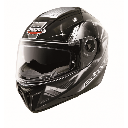 CABERG EGO ULTRALIGHT BLACK/WHITE KAPALI KASK
