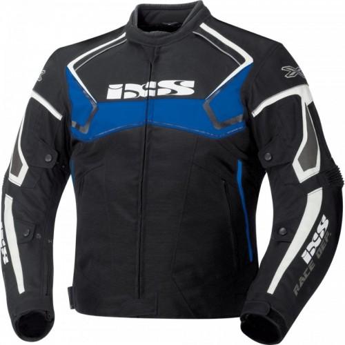 IXS Activo Siyah-Mavi-Beyaz Motosiklet Ceketi