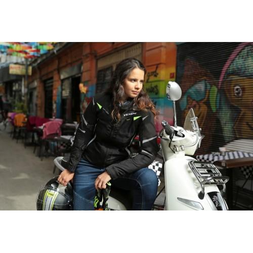 Venom City Condura Uzun Kadın Motorsiklet Montu
