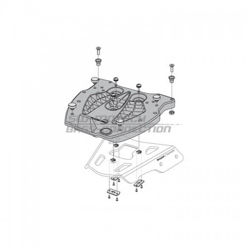 QUICK-LOCK Adapter Plate. GIVI/KAPPA Monokey. Fiber Reinforced Nylon. Black. GPT.00.152.405