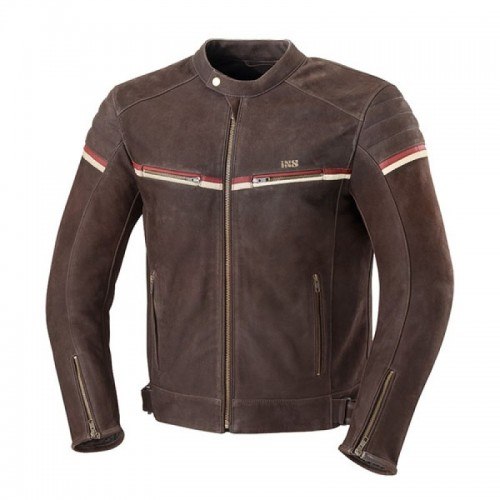 IXS Flagstaff Kahverengi Nubuk Deri Motosiklet Ceketi