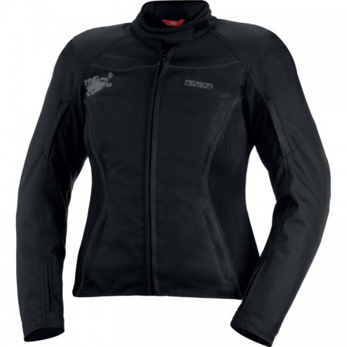 IXS Eveline Siyah Bayan Motosiklet Ceketi