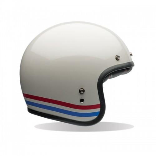 Bell PS Custom 500 Kask- Stripes Pearl Beyaz Açık Kask