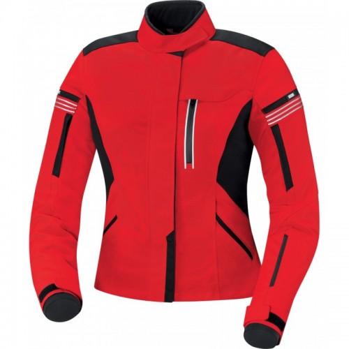 IXS Finja Kırmızı Siyah Bayan Motosiklet Ceketi