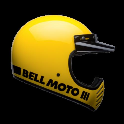 BELL MOTO 3 CLASSIC YELLOW KAPALI KASK