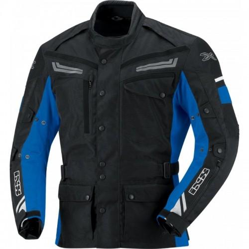 IXS Evans Siyah-Mavi Motosiklet Ceketi