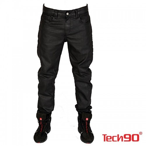 TECH90 NEW PIRATE KEVLAR BLACK MOTOSİKLET PANTOLONU