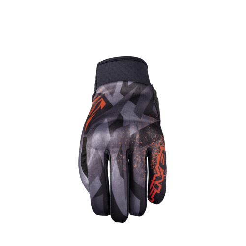 FIVE GLOVES GLOBE CAMO FLUO RED MOTOSİKLET ELDİVENİ