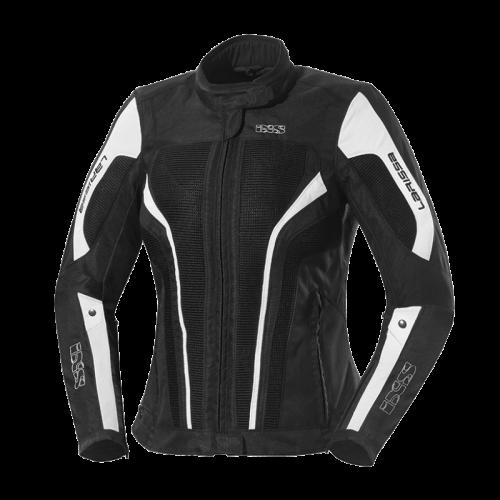 IXS Larissa Siyah Bayan Motosiklet Ceketi