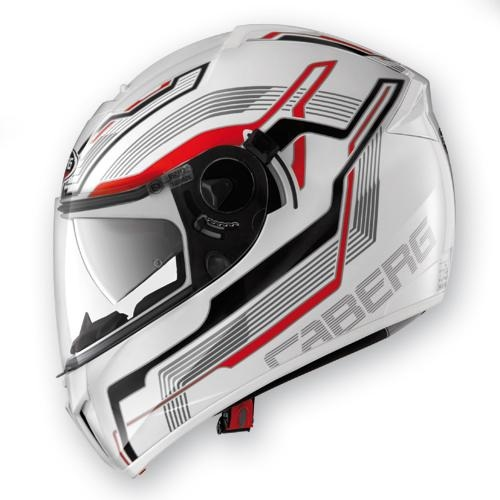 CABERG EGO STREAMLINE WHITE/RED KAPALI KASK