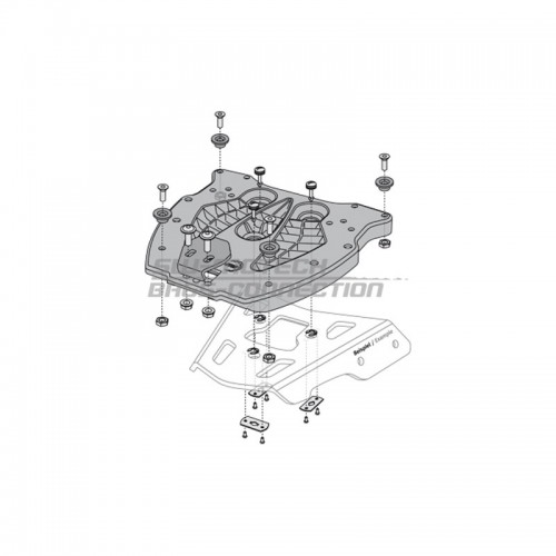 QUICK-LOCK Adapter Plate. TraX ® Topcase. Fiber Reinforced Nylon. Black. GPT.00.152.400