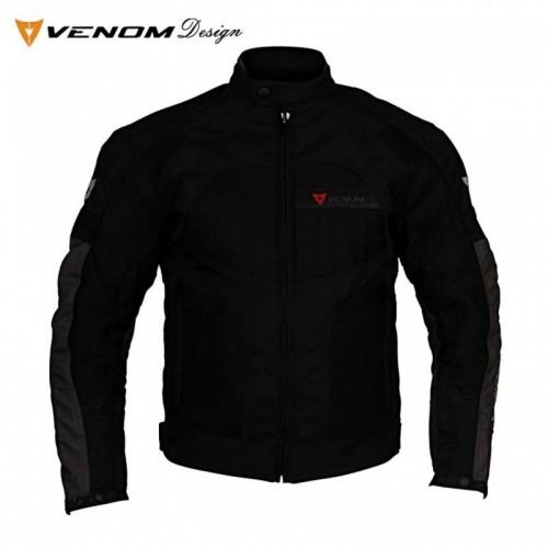 Venom Dynamic Siyah-Gri Bayan Motosiklet Ceketi